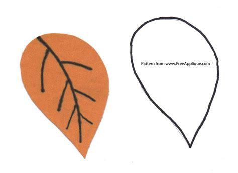 leaf pattern craft printable applique templates clipart best