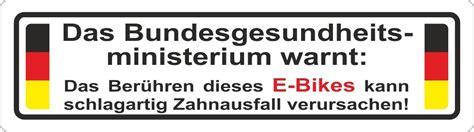 Aufkleber Motorrad Zahnausfall by Aufkleber Das Bundesgesundheitsministerium Warnt Das