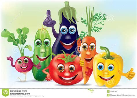 la cuisine v馮騁arienne pour tous vegetais da companhia dos desenhos animados foto de stock