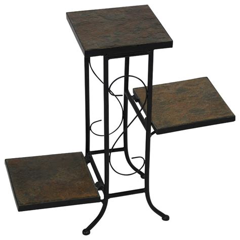 3 Tier Planter Stand by 4d Concepts 3 Tier Plant Stand In Slate Traditional