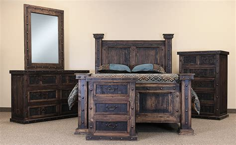 rustic bedroom set rustic bedroom furniture set wood