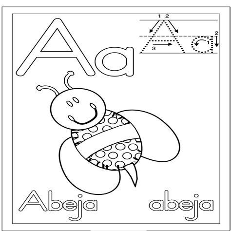 imagenes que empiecen con la letra a para imprimir letra a abeja dibujalia dibujos para colorear n繝篌meros