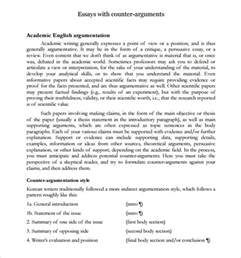 Counter Argument Essay Exles sle counter argument 8 documents in pdf word