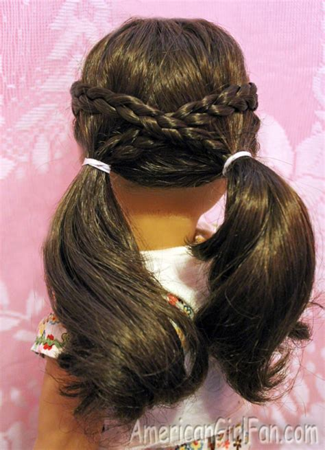 hairstyles for american girl doll videos cross over pigtails doll hairdo pinterest american