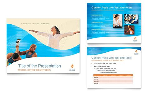 Physical Therapist Powerpoint Presentation Template Design Flyer Powerpoint Template