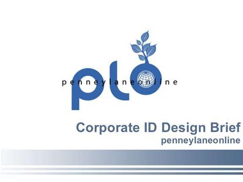 design brief hsc presentation corporate id design brief penneylaneonline
