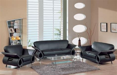 Black Leather Living Room Set Black Leather Living Room Set Modern House