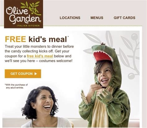 olive garden coupons halloween halloween freebies kids eat free growing list