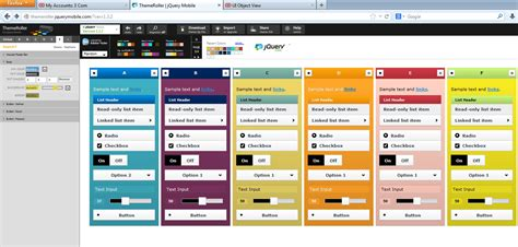themes jquery mobile 1 4 siebel mobile applications and jquery mobile themeroller