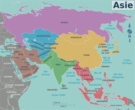 asia map with names map of asia with names