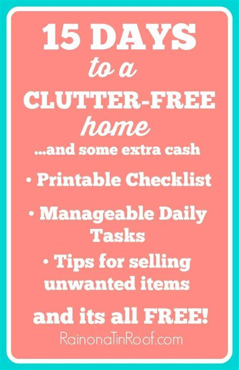 5 days to a clutter free house easy ways to clear up your space books a clutter free home in 15 days clutter organization