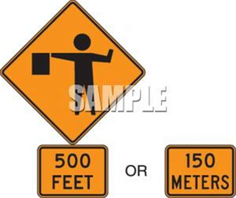 500 feet to meters clipart of a 500 feet 150 meters detour sign