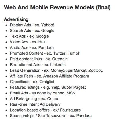 Http Avc Archive Mba Mondays Archive by Mba Mondays Revenue Models Advertising Avc