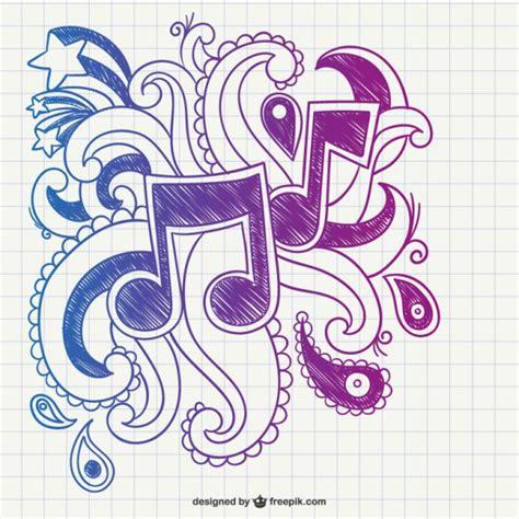 imagenes hermosas musicales garabato de notas musicales descargar vectores gratis