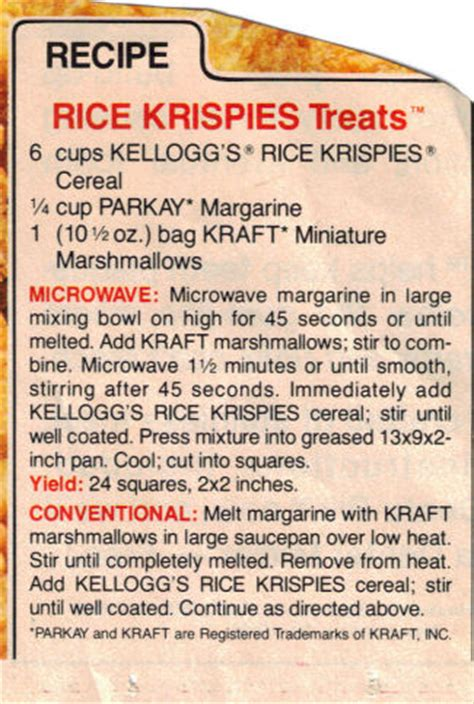 rice krispies treats recipe clippings 171 recipecurio com