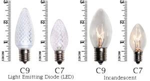 difference between c7 c9 led products lights of