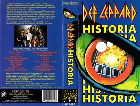 Vhs Def Leppard Archive def leppard historia vhs at discogs