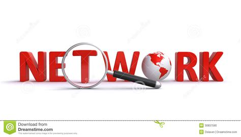 Network Search Network Search Stock Photo Image 30837590