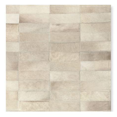 Pieced Hide Rug Pieced Tile Hide Rug Williams Sonoma