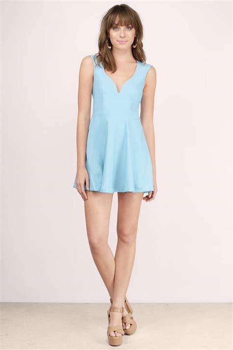 Dress Valentina valentina light blue skater dress 16 tobi us