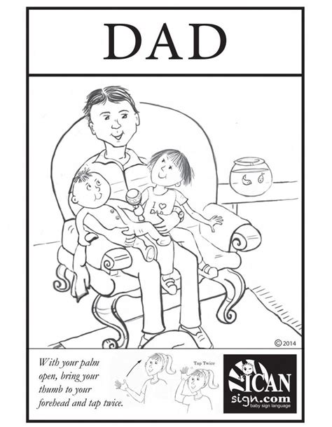 printable flashcards for sign language baby sign language flashcard dad black and white