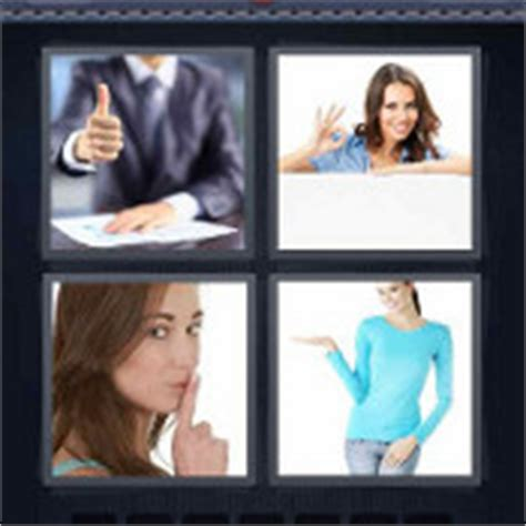 imagenes palabra ok man with thumbs up4 pics 1 word solutions 4 pics 1 word