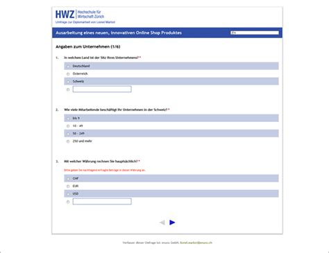 online layout fragebogen design von umfrage online