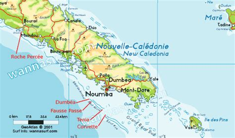 map of new caledonia and australia new caledonia wannasurf atlas mondial de spots de surf