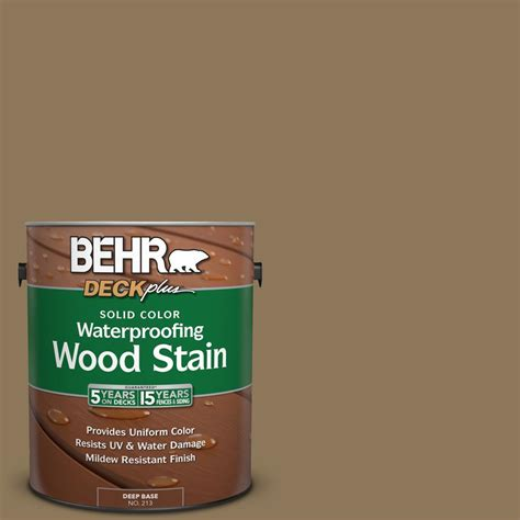 behr solid color waterproofing wood stain behr deckplus 1 gal sc 153 taupe solid color
