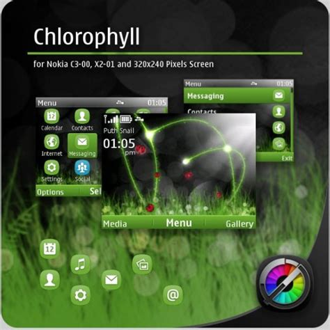 nokia c3 themes free download 2013 free nokia theme chlorophyll for c3 00 x2 01 and 320