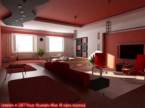 salon en rojo  blanco decoracion de interiores
