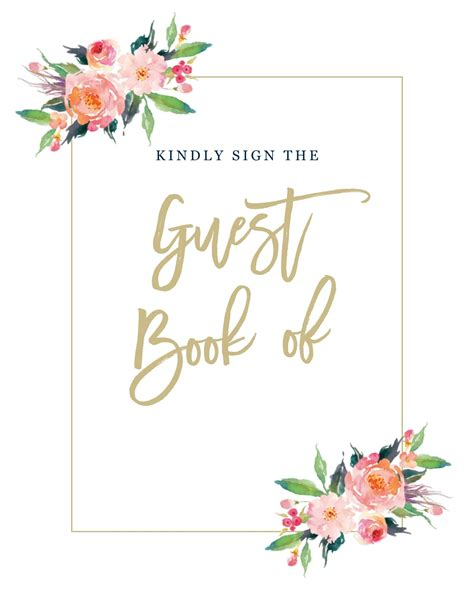 guestbook template etsy