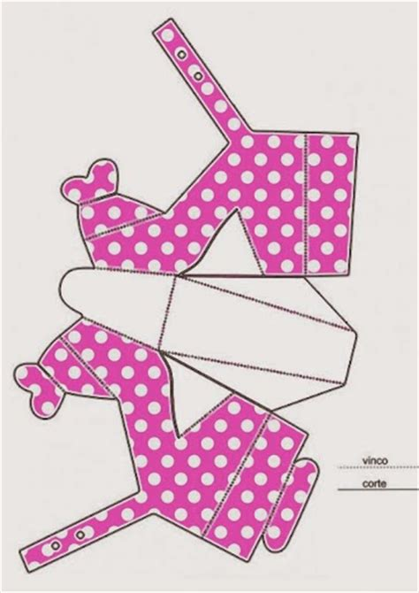 Minnie Free Printable Paper Shoes Oh My Fiesta In English Templates Para Gratis
