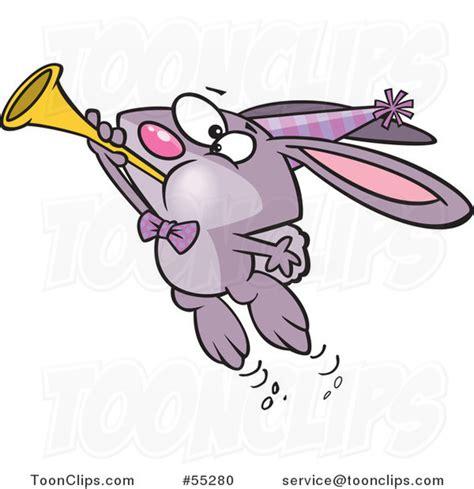Ro N St Piyama Rabbit purple new year rabbit blowing a horn 55280 by leishman