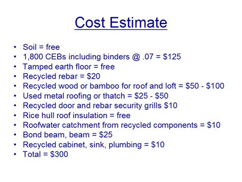 house cost estimate jovoto 300 geopolymer ceb house the 300 house
