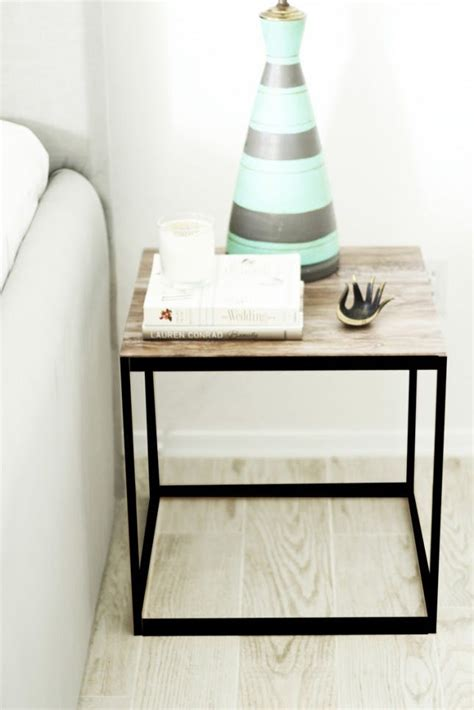 ikea table top hack 21 ikea nightstand hacks your bedroom needs brit co