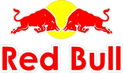 Wall Sticker Height Chart corporate logo decals full color red bull decal