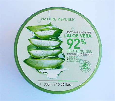 Nature Republic Aloe Vera 92 Soothing Gel Won a about korean cosmetics review nature