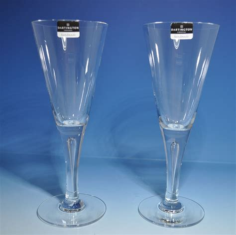 crystal wine glasses dartington crystal sharon wine glass pair michael