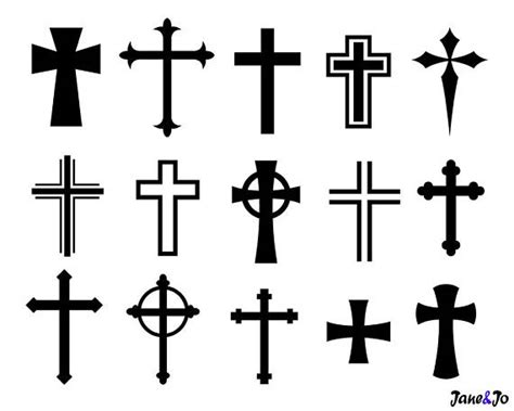 cross svgcross svg silhouette filescrosses vector png dxf