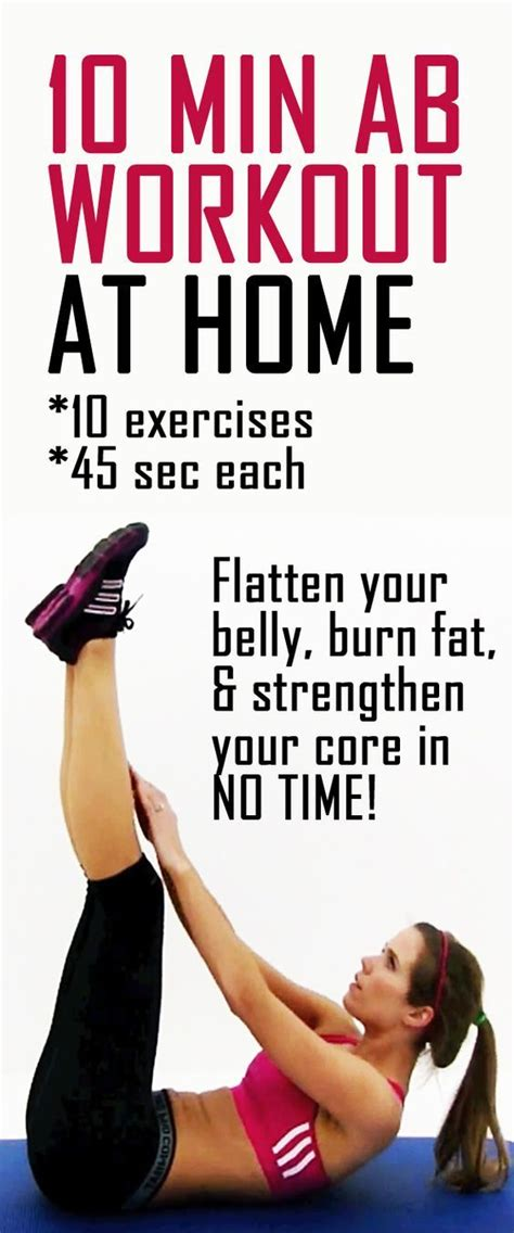 use this 10 minute abs workout to focus on strengthening and toning your midsection this