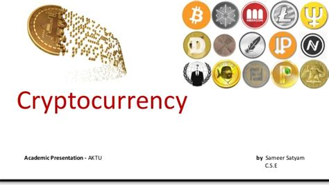 Cryptocurrency Digital Currency Cryptocurrency Powerpoint Template