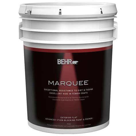 behr marquee 5 gal medium base flat exterior paint 445405