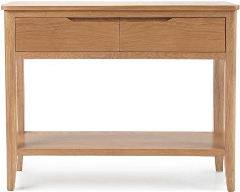 2 drawer console table buy asby oak 2 drawer console table cfs uk