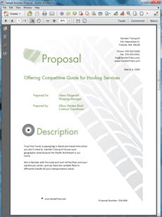 Proposal Kit How To Write A Transportation Industry Business Proposal Logistics Rfp Template
