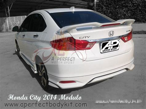 honda city 2014 modulo rear skirt rear spoiler honda city 2014 新山 jb 马来西亚 车身改装 喷漆 炫专业车身改装及喷漆