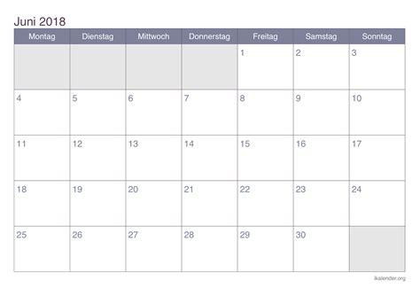 Kalender 2018 August Und September Kalender Juni 2018 Zum Ausdrucken Ikalender Org