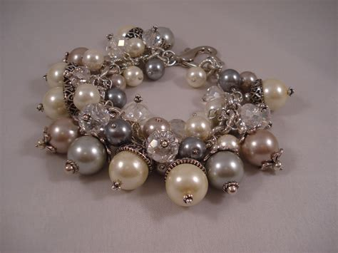 beaded charms big and chunky beaded charm bracelet carolyn schulz