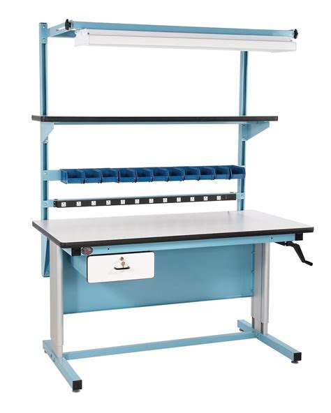 height adjustable work bench pro line bib17 72 quot x 30 quot height adjustable work bench