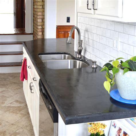 diy concrete kitchen countertop ideas the clayton design easy diy concrete counters the missing link hometalk